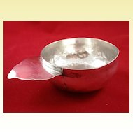 Unusual English sterling bleeding bowl c. 1787