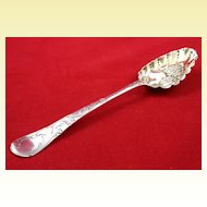 Well-done sterling silver berry spoon c. 1747