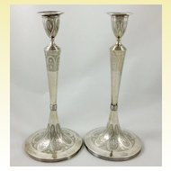 Superb pair of large Austrian 812 silver candlestick c. 1810