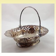 George III reticulated sterling silver sweetmeat basket