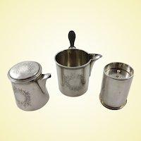 A Rare French 950 silver tea brewing set