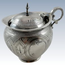American coin silver mustard pot by Peter L. Krider c. 1850-1860
