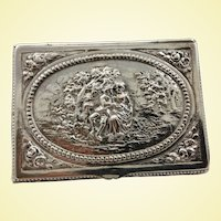 German 800 silver box with scenes
