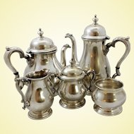 Massive 5-piece sterling silver coffee set by International