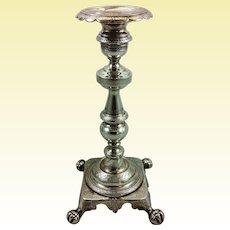 Rare Brazilian solid silver candlestick c. 1850-1890s
