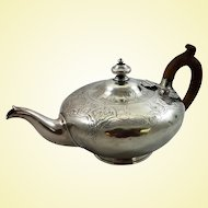 Victorian sterling silver teapot c. 1842 by W. Moulson