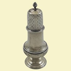 English George III sterling silver caster by R. Peaston