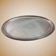 Historical American sterling tray c. 1869 by Semken and Krider & Biddle, very heavy