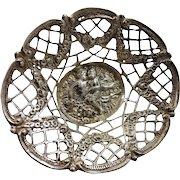 Cute 800 silver basket, probably Hanau Germany