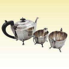 Art Deco sterling silver tea set