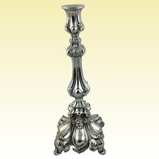 Large continental silver candlestick