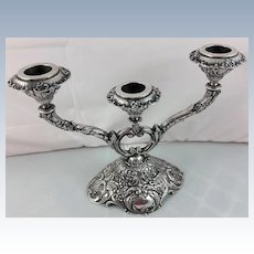 Superb 800 silver 3-arm candelabra made in Hanau, Germany