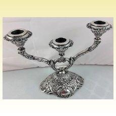 Superb 800 silver 3-arm candelabra made in Hanau, Germany