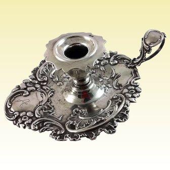 German 812 silver chamberstick