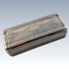 Austrian 813 silver snuff box c. 1850s