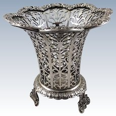 Superb 900 silver vase made in Ottoman Empire