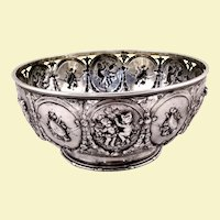 Beautiful Hanau 800 silver bowl