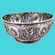 Beautiful Hanau 800 silver bowl