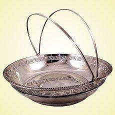 Rare Large China Export Silver bowl by Tu Hopp c. 1830