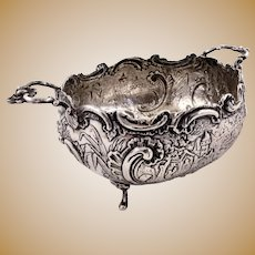 Excellent 800 silver Hanau bowl by J. D. Schleissner & Sohne