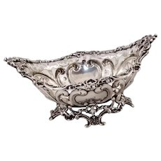 Large Gorham reticulated dish, sterling silver, c. 1894