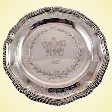 George II solid silver salver by important maker c. 1746