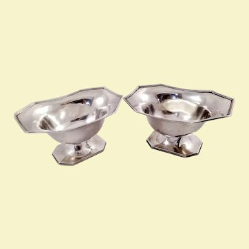 Pair of sterling bowls by Webster