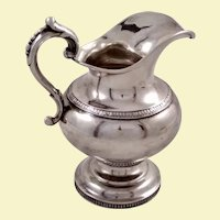 Large American coin silver creamer by Salisbury