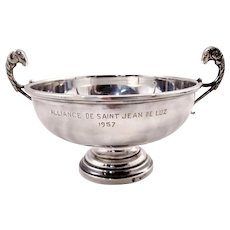 Elegant French solid silver bowl