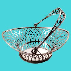 Beautiful German solid silver basket, probably mid 19th century