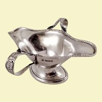 Unusual two handled sterling sauce boat, by Thomas Bradbury & Sons c. 1906