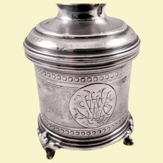 Beautiful rare French 950 silver spice grinder