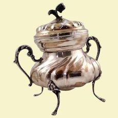 Italian 800 silver sugar bowl