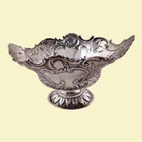 Continental solid silver bowl, probably 19th century