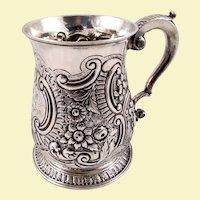 Beautiful English silver mug c. 1752