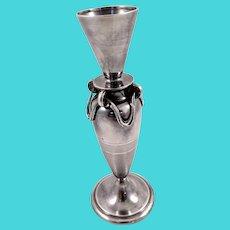 Elegant Gorham coin silver bud vase