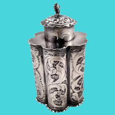 Austrian 813 silver tea caddy c. 1860s
