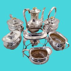 Amazing English sterling silver tea set over 8 lbs!