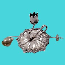 Unusual English George IV silver chamberstick