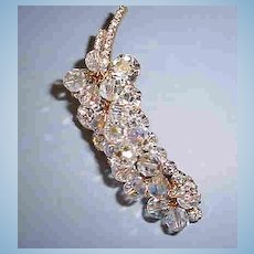 VINTAGE Delizza and Elster  Juliana  Rhinestone and Crystal Cluster of Grapes Awesome!!