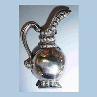 Sterling Classic Pitcher Brooch or Pin can be Pendant