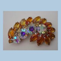 VINTAGE Spring Radiance Gold Rays of the Sun Brooch
