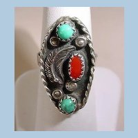 VINTAGE Sterling Indian-made ring For the Small hand Size 5 1/2