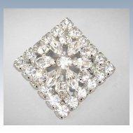 VINTAGE Unsigned Diamond-Shape Brillant Brooch