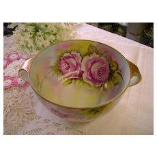 VINTAGE Deep Bowl Victorian Roses Early Noritake