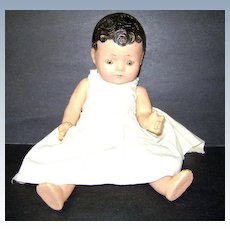 VINTAGE 12 Inch Composition Doll Early 40's FOR REPAIR