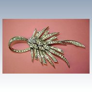 VINTAGE Boucher Rhinestone Brooch Old and Classy!