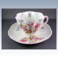 VINTAGE Shelley English Bone China Cup and Saucer-- Pattern Stocks