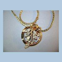 VINTAGE Choker Pendant with shiny snake chain