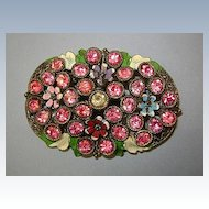 VINTAGE Little Nemo Pink Bouquet of Flowers and Enameling